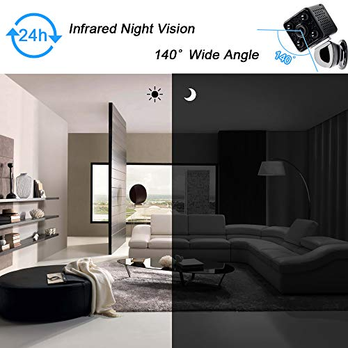 Mini Camera Spia LXMIMI Telecamera Nascosta Telecamera 1080P Wifi Telecamera Spia Videocamera 140 ° Grandangolare Nascosta Microcamera con Visione Notturna e Rilevamento del Movimento - 2