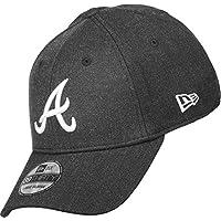 New Era Mlb Heather Visor Atlbra Grablk - Cappello Linea Atlanta Braves da Uomo, colore Grigio, taglia S-M