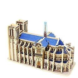 Creative Assemble Puzzle Toys Child Early Education Wooden 3 D Puzzle Building Notre Dame De Paris