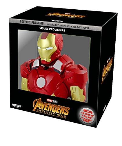 Avengers Infinity War - coffret exclusif Amazon 4K + tirelire Iron Man [Blu-ray]