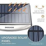 Solar Wandleuchte mit Bewegungsmelder, SGODDE 36 LED Wireless Wasserdichte Solarleuchten, 4 Modi Solar Aussenleuchte, 4400mAh Solar Gartenleuchten, Solarlampen mit 45° verstellbarer Halter Super Hell - 2