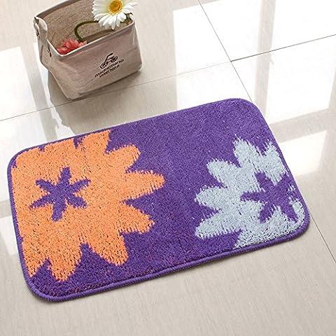 fiore stuoie/Camera da letto cucina bagno acqua porta tappetino antiscivolo/Ottomani-C (Avorio In Pelle Ottomana)
