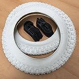 2x Duro Weiß 12 Zoll Reifen & Schlauch AV 12 1/2 x 2 1/4 | ETRTO: 62-203 Fahrrad Kinderwagen Roller