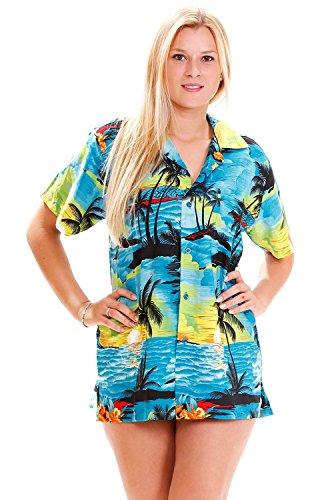 Funky Hawaiibluse, Surf, türkis, (St Shirts Patricks Sexy Tag)