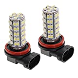 #10: Phenovo 2 Piece Replacement H8 H11 68-3528-SMD LED Blub for Car SUV Fog DRL Light