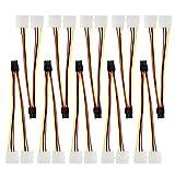 HSeaMall 10 STÜCKE 6Pin PCI Express Stecker Auf Dual LP4 4Pin Molex IDE Stromkabel Adapter splitter stecker (2XLP4 to 6Pin)
