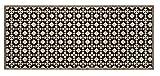 Flurläufer - Küchenläufer - beige - schwarz - Universal Läufer - Küchenmatte - Läufer - Dekoläufer für Küche , Flur , Wohnzimmer und Bar - Der Hingucker in Ihrer Wohnung - Ihre Gäste werden staunen - waschbare Läufer - Küchendeko Modell - 67 x 150 cm