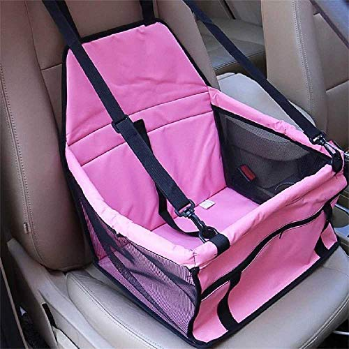 VUBD 2 in 1 Vettore per Cani Pieghevoli Spessa Gatto Gatto Cane Auto Booster Seat900D Nylon Impermeabile Travel Cover Outdoor Pet Bag Amaca M/Polvere