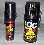 Pfefferspray OC 5000 40 ml kaufen - 1 Pfefferspray 15 ml Protect Lady Gratis