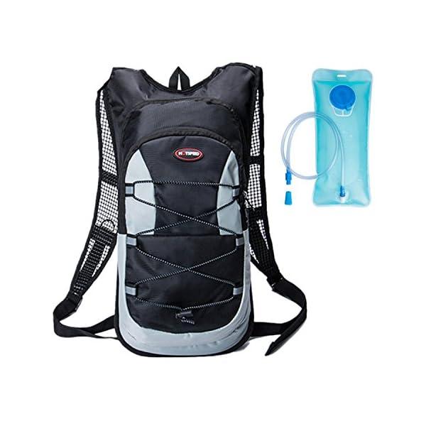 zapatillas de deporte para baratas Tener cuidado de al por mayor online haoyk 12L impermeable mochila ligera bolsa de hidratación deporte bolsa de  agua (2L) con reflectante para mujeres hombres correr esquí senderismo ...