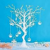 Arbre de décoration de table au mariage/fête, décoration de table d'enregistrement au mariage, arbre voeux démontable, ornement d'arbre de simultation blanc