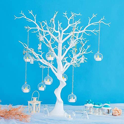 Albero decorativo per tavolo da pranzo per matrimoni/feste, decorazione per alberi finti scrivania di iscrizione, albero dei desideri staccabili, decorazione bianca per alberi artificiali(1 pezzo)