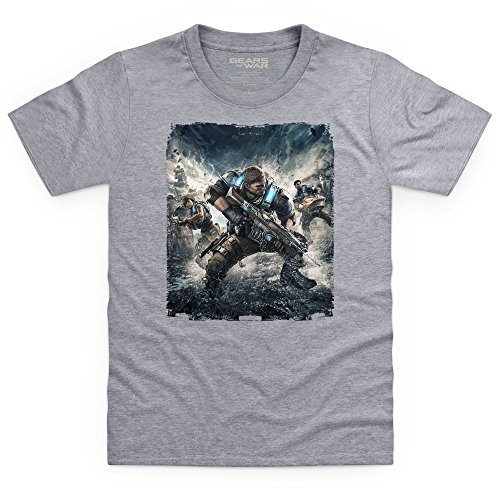 Official Gears of War 4 Outsiders Art T-shirt bimbi, Bimbi, Grigio mlange, XL