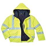PORTWEST S773 - Bizflame Regenwarnschutz Piloten-Jacke, antistatisch und Flammhemmend, 1 Stück, 5XL, gelb, S773YER5XL