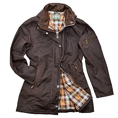 Damen-Wachsjacke New Ashdown | Robuste wind- und wasserdichte, tailliert geschnittene Regenjacke für jeden Anlass | Inklusive Kapuze von Romneys - Outdoor Shop