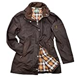 Romneys Damen-Wachsjacke New Ashdown | Farbe: Braun, L