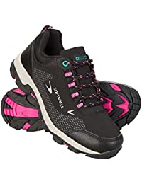 Mountain Warehouse Softshell Kids Shoes - Durable Walking Shoes, Breathable Upper Hiking Shoes, Mesh Lining Childrens Shoes, High Traction Running Shoes - for Travelling