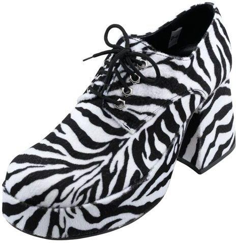 Men's Zebra Print Platform Shoes.