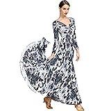 1c0ed4905 Vestido Adulto de la Danza Moderna Ropa de Baile Estándar Nacional Impresa  Vestidos de Baile de
