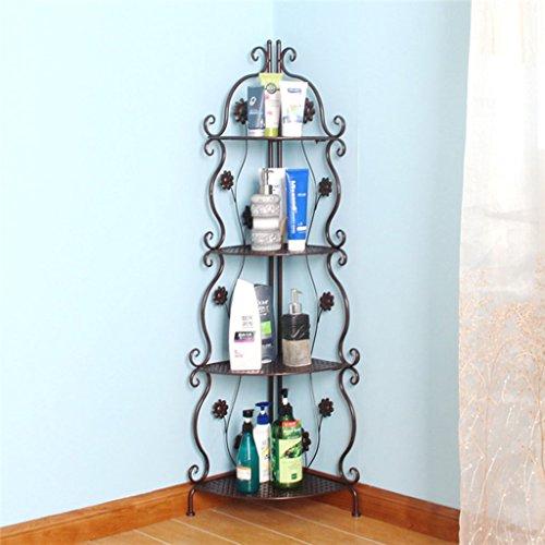 Shuang Badezimmer Regal Stand-up Multi-Layer-Eisen Stativ WC Badezimmer Lagerung Bad Rack Handtuchhalter 3326 (Farbe : B)