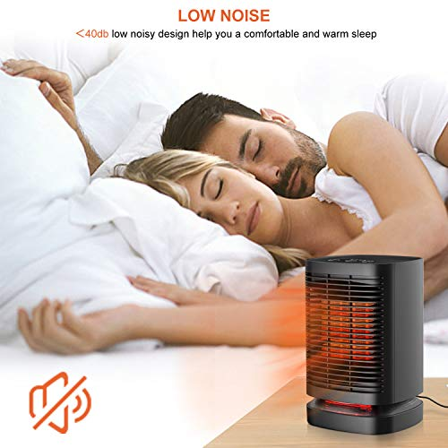 51s8EyISRBL. SS500  - KKCITE Portable Electric Ceramic Space Heaters, 2 in1 2SPersonal Heater Fan with Auto Oscillating Hot & Cool Mode, Tip-Over & Over-Heat Protection 950W with Worldwide Adapters