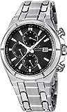 JAGUAR Herren-Armbanduhr Sport analog Edelstahl-Armband silber Quarz-Uhr Ziffernblatt schwarz UJ665/4