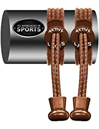 AKTIVX SPORTS LACES - No Tie Shoelaces That Lock - Replacement Elastic Shoelaces, Athletic Laces For Running Gear...