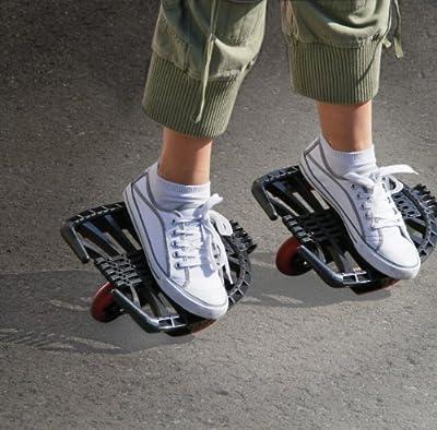 HUDORA 1200 - Skatesystem Twin-Skate, schwarz/rot