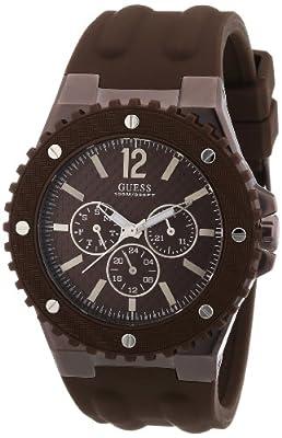 Guess - Reloj analógico de cuarzo para hombre con correa de silicona