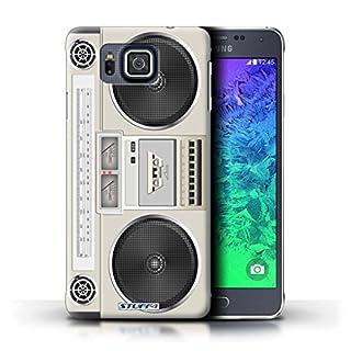 Stuff4® Hülle/Hülle für Samsung Galaxy Alpha/Boombox Muster/Retro Techik Kollektion