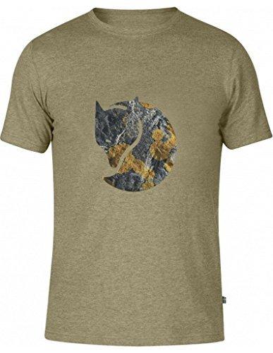 Fjällräven Herren Rock Logo T-Shirt Cork