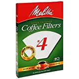 Best KRUPS coffeemaker - Melitta 624404 40 Count No. 4 White Cone Review