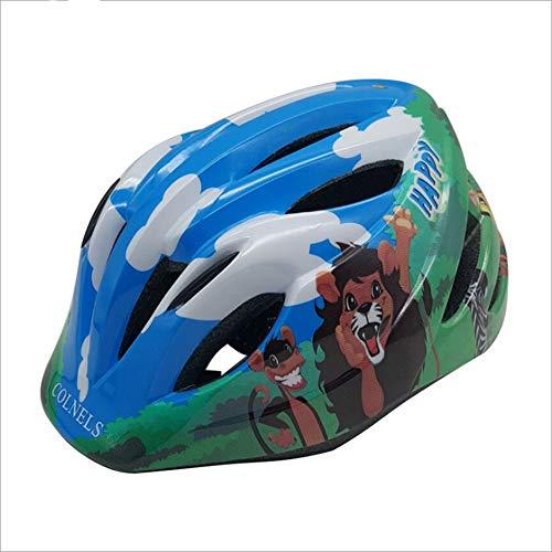 WWWlck Kinder Fahrradhelm Sicherer Fahrradhelm Kinderhelm rollerhelm mädchen kinderfahrradhelm für Mountainbike Inliner skaterhelm BMX fahradhelm Scooter Jungen Bike Helmet,Blau