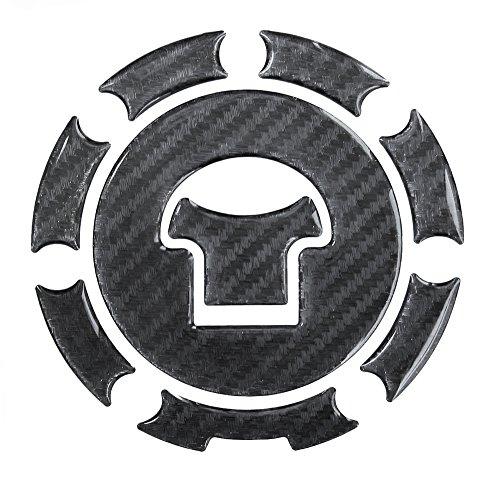 Tankdeckel-Pad 3D 600039 Carbon Schwarz - Hightech-Folie mit sichtbarer Struktur - universeller Tank-Schutz passend für Honda-Tanks