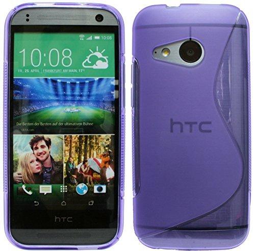 HTC One Mini 2 // Silikon Hülle Tasche Case Gummi Schutzhülle Zubehör in Violett @ Energmix