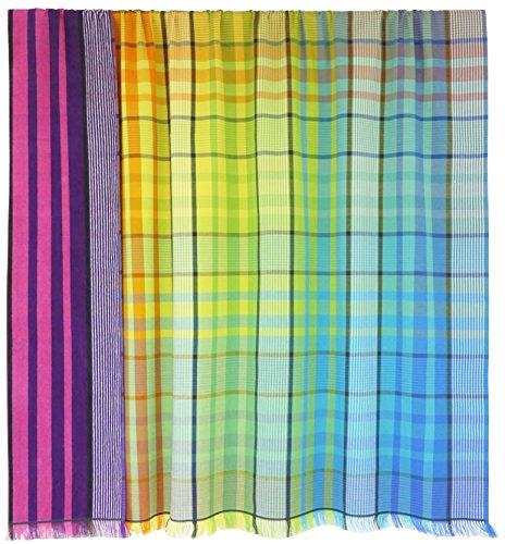 Lashuma XXL Stranddecke Kopenhagen | kariertes Strandtuch für 2 | quadratisches riesiges Liegetuch | leicht und platzsparend | 180 x 180 cm