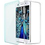 Huawei Honor 6 Hülle, Saxonia® Schutzhülle + Panzerglas Ultra Slim Silikon Case Handyhülle Back Cover Transparent