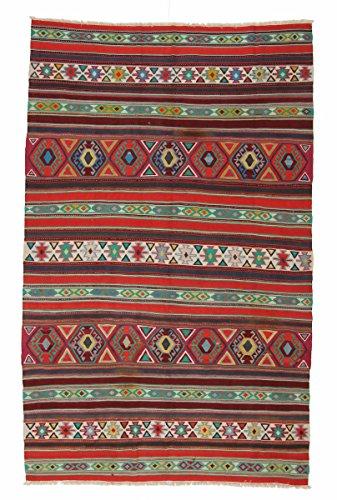 Nain Trading Kelim Soumak 280x150 Orientteppich Teppich Läufer Dunkelgrau/Rost Handgeknüpft Russland -