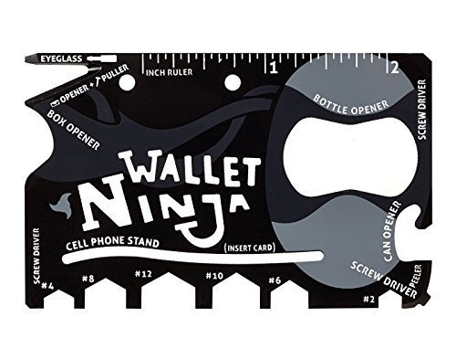 SYGA Wallet Ninja 18 in 1 Multi-purpose Credit Card Size Pocket Tool with smart cover  available at amazon for Rs.129