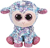 Ty- Flippables Small-Peluche Sequins Tulip Le Mouton 15cm, TY36677, Multicolore