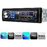 Masione® Radio para coche, Autorradio 1 DIN in Dash 12V, Reproductor Mp3 con entrada USB SD receptor AUX, Estéreo de coche Receptor FM + Control remoto/Mando a distancia