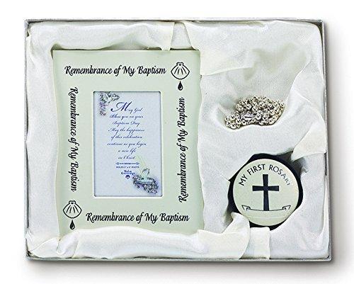 N 1983 BAPTISM FRAME/ROSARY/BOX SET by BBS
