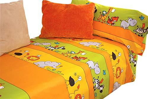 Juego sábanas estampado Animales ZOO cama 90x190/200