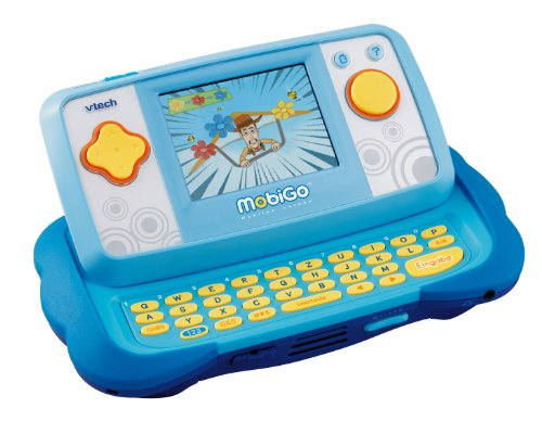 VTECH 80-115804 - MobiGo Lernkonsole TFT-Touch Display blau inklusiv Lernspiel Toy Story 3