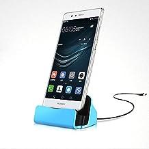 ONX3 (Azul) Sony Xperia C5 Ultra / Sony Xperia C5 Ultra Dual Escritorio Base Micro USB Soporte de Sincronización de Datos Carga Estación de Acoplamiento
