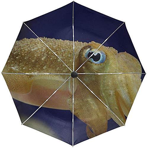 Automatischer Regenschirm Tintenfisch Unterwasserschwimmen Helle Augen Reisen Bequem Winddicht Wasserdicht Falten Auto Öffnen Schließen