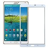 ZZjingli Repairparts Lente Frontale in Vetro Esterno for Samsung Galaxy Tab S 8.4 LTE / T705 (Nero) (Bianco) (Colore : Bianca)