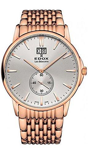 Edox Homme les Bemonts 42mm Bracelet en acier montre à quartz Swiss 6401237rm Air