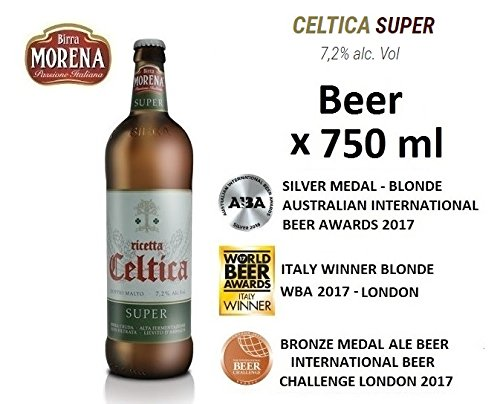 Birra Morena Super 7,2 % alc vol - CL 75 - Double Malt -Blonde Ale - Yeast abbey -Artigianale - Craft Beer - Italian Beer - Award - Best Gift Events Christmas Easter
