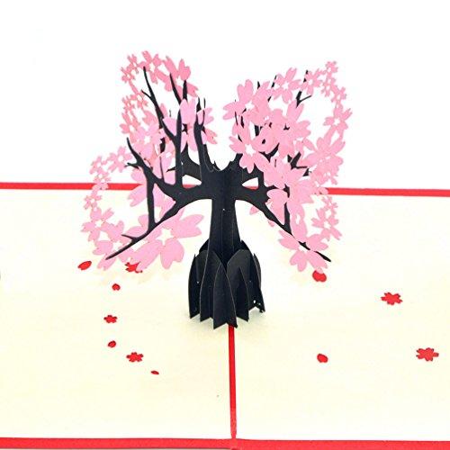 medigy-carte-danniversaire-faite-a-main-3d-pop-up-kirigami-creux-arbre-de-fleur-de-cerisier-pliable-